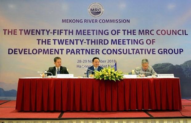 Efectuan en Vietnam reunion 25 del Consejo de Comision del Rio Mekong hinh anh 1