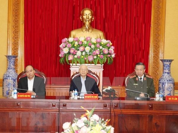 Resaltan logros del Comite del Partido en fuerzas de seguridad publica de Vietnam hinh anh 1