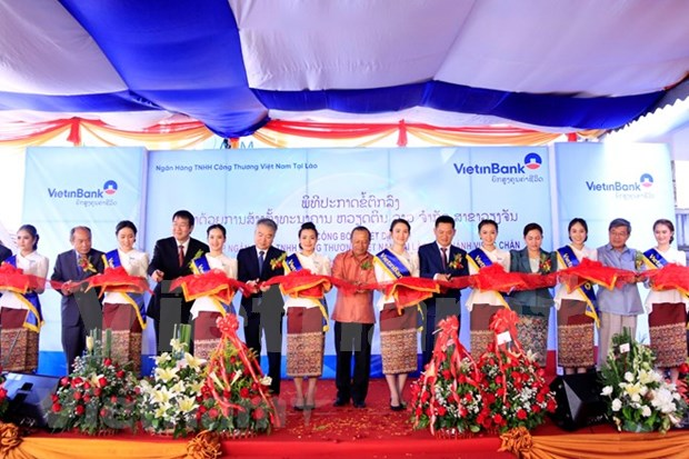 Banco vietnamita VietinBank inaugura sucursal en Vientiane hinh anh 1