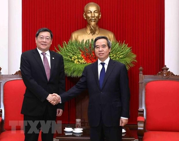 Dirigente partidista vietnamita insta a mayor cooperacion con provincia china de Hunan hinh anh 1