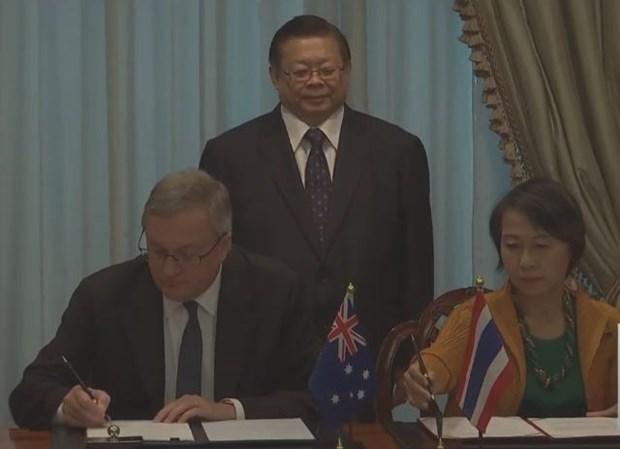 Tailandia y Australia firman acuerdo contra la trata de personas hinh anh 1