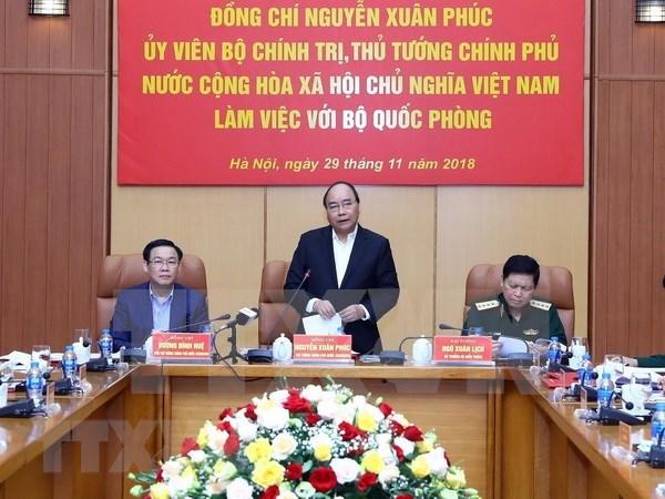 Premier de Vietnam insta a fortalecer salvaguardia de la Patria hinh anh 1