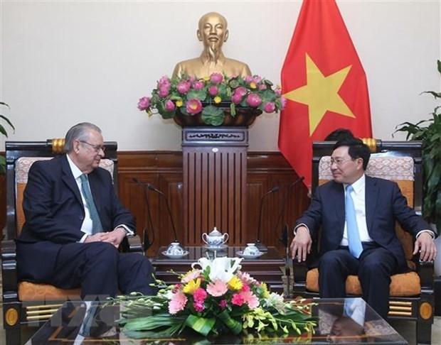 Vicepremier de Vietnam recibe al presidente del Grupo de Vision APEC hinh anh 1