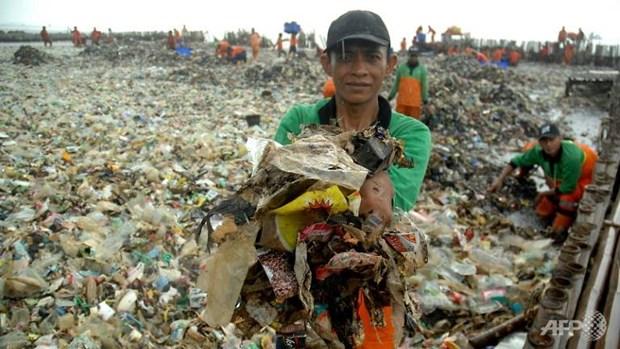 Indonesia trabaja para eliminar toneladas de basura en archipielago Mil Islas hinh anh 1