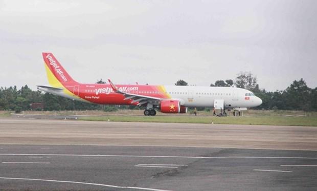 Avion de aerolinea vietnamita con problemas al aterrizar en aeropuerto de Buon Ma Thuot hinh anh 1
