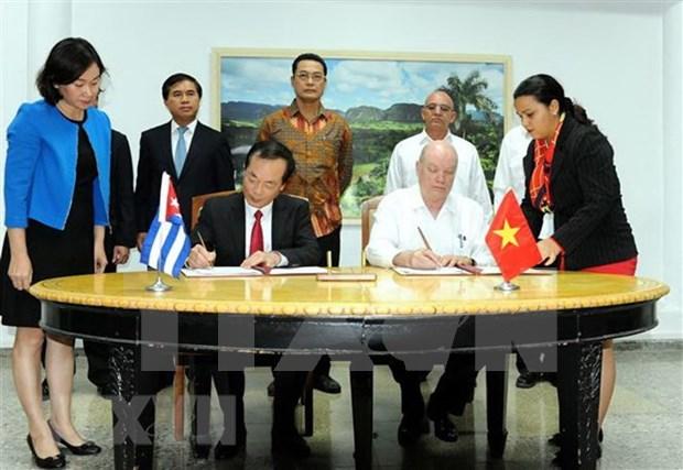Concluye sesion intergubernamental entre Vietnam y Cuba hinh anh 1