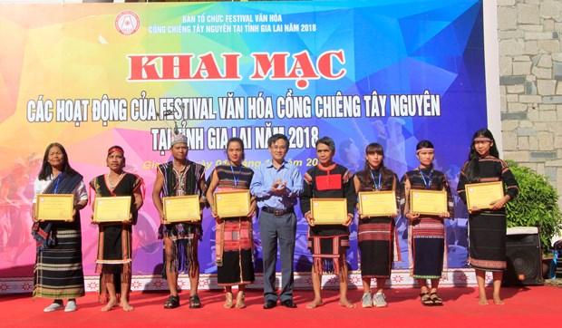 Inauguran Festival de la Cultura de Gongs de Tay Nguyen hinh anh 1