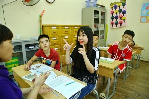 Efectuan en Hanoi carrera a favor de personas con discapacidad visual hinh anh 1