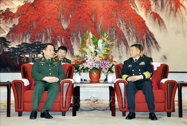Delegacion del Ejercito Popular de Vietnam visita China hinh anh 1