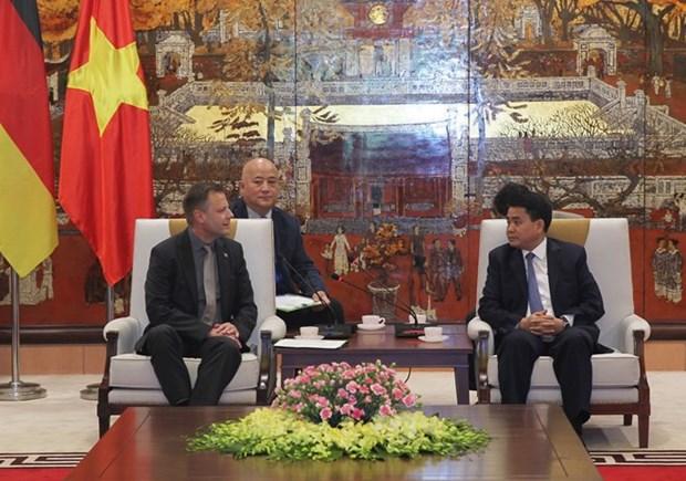 Ciudad alemana brinda asistencia a Hanoi para mejorar tratamiento de agua residual hinh anh 1