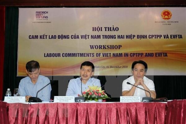 Vietnam trabaja por cumplir con compromisos laborales en acuerdos comerciales globales hinh anh 1
