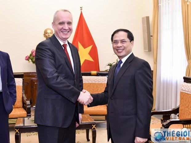 Cancillerias de Vietnam y Belarus por intensificar cooperacion en impulso de lazos binacionales hinh anh 1