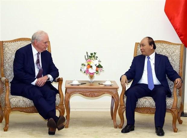 Premier de Vietnam recibe a profesor de Havard hinh anh 1
