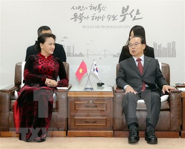Prensa surcoreana evalua altamente visita de presidenta del Parlamento vietnamita hinh anh 1