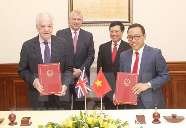 Vicepremier vietnamita recibe al duque de York hinh anh 1