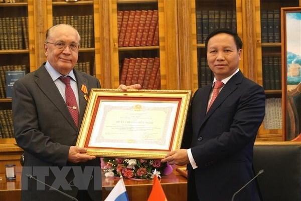 Vietnam otorga Orden de Amistad a Universidad estatal de Rusia hinh anh 1