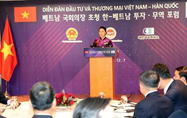 Efectuan Foro de Inversion y Comercio Vietnam – Corea del Sur hinh anh 1