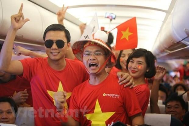 Vietnam Airlines aumentara vuelos a Malasia para aficionados vietnamitas de futbol hinh anh 1