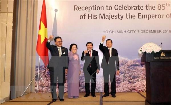 Celebran en Ciudad Ho Chi Minh 85 anos de natalicio del Emperador japones Akihito hinh anh 1