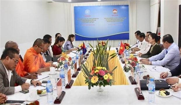 Delegacion del Frente de Unidad y Desarrollo de la Patria de Camboya visita Vietnam hinh anh 1