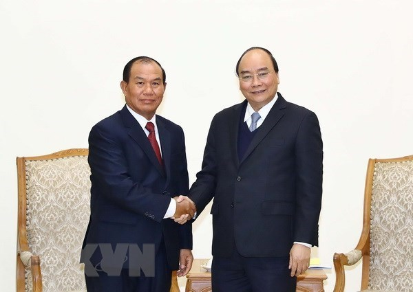 Premier vietnamita recibe al ministro de Justicia de Laos hinh anh 1