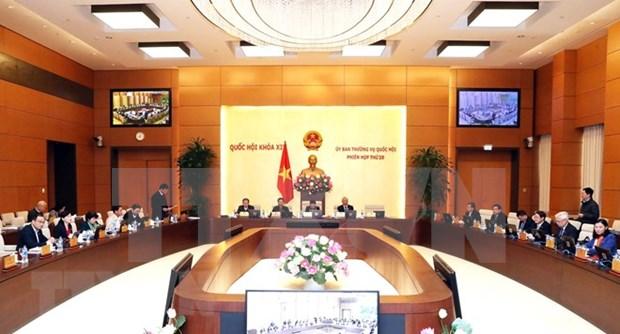 Comite Permanente del Parlamento de Vietnam revisa ajustes del programa de ley 2019 hinh anh 1