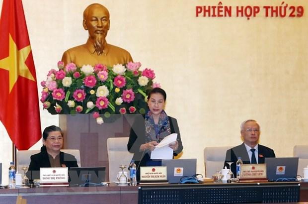 Inauguran reunion 29 del Comite Permanente del Parlamento vietnamita hinh anh 1
