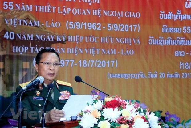 Ascendido ministro laosiano de Defensa al grado de general de ejercito hinh anh 1