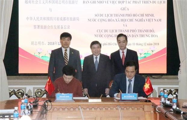Ciudad Ho Chi Minh y urbe china de Chengdu intensifican lazos comerciales e inversionistas hinh anh 1