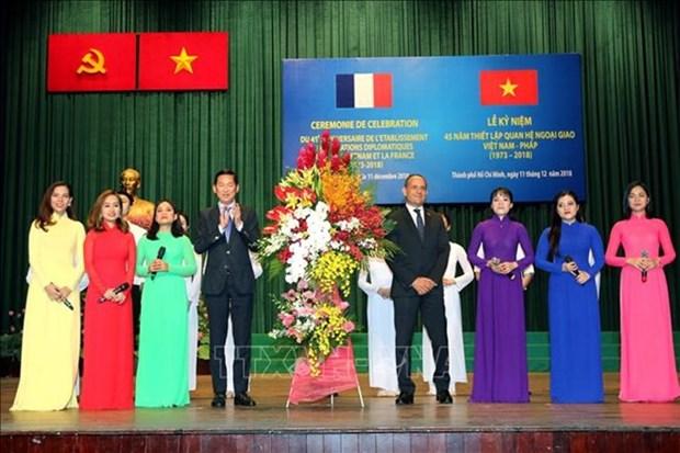 Impulsan cooperacion entre Ciudad Ho Chi Minh y localidades francesas hinh anh 1