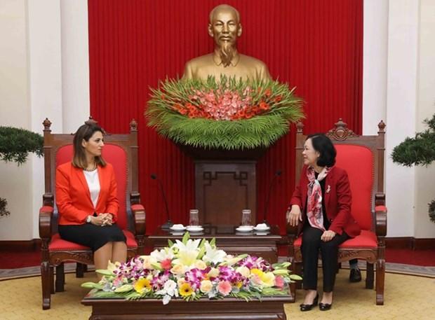 Delegacion del Partido Nuevo Azerbaiyan visita Vietnam hinh anh 1