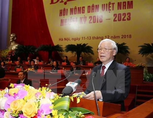 Maximo dirigente politico de Vietnam resalta papel de agricultores hinh anh 1