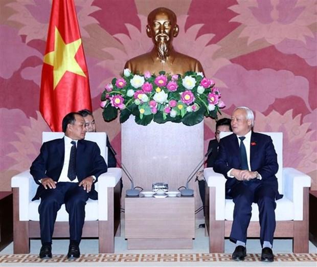 Vicepresidente del Parlamento de Vietnam recibe al ministro de Justicia de Laos hinh anh 1