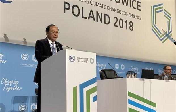 Vietnam llama a comunidad internacional a compartir intereses para enfrentar el cambio climatico hinh anh 1