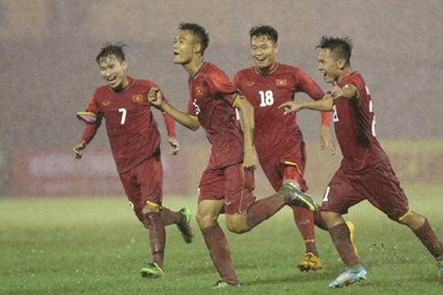Equipo de futbol sub-21 vietnamita conquisto primera victoria en torneo internacional hinh anh 1