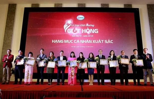 Vietnam honra a organizadores de programas de donacion de sangre hinh anh 1