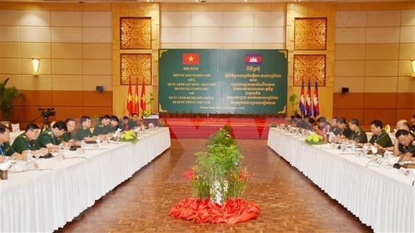 Vietnam y Camboya estrechan lazos en garantia de estabilidad en zonas fronterizas hinh anh 1