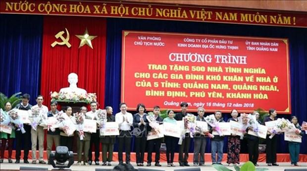 Familias pobres en Vietnam reciben asistencia para construir casas nuevas hinh anh 1