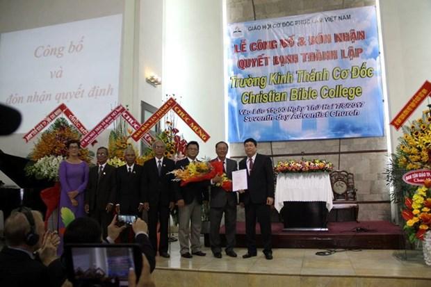 Inauguran primer curso de Escuela Biblica Cristalina en Vietnam hinh anh 1