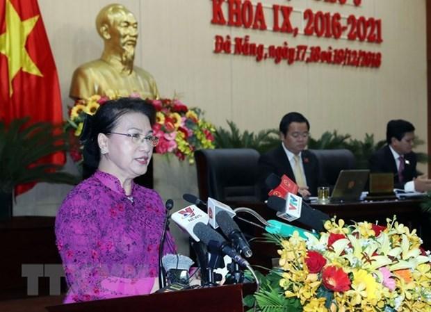 Presidenta parlamentaria de Vietnam exhorta a Da Nang a convertirse en una ciudad inteligente hinh anh 1