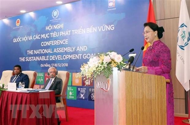 Debaten en Vietnam papel de Parlamento en cumplimiento de los Objetivos de Desarrollo Sostenible hinh anh 1
