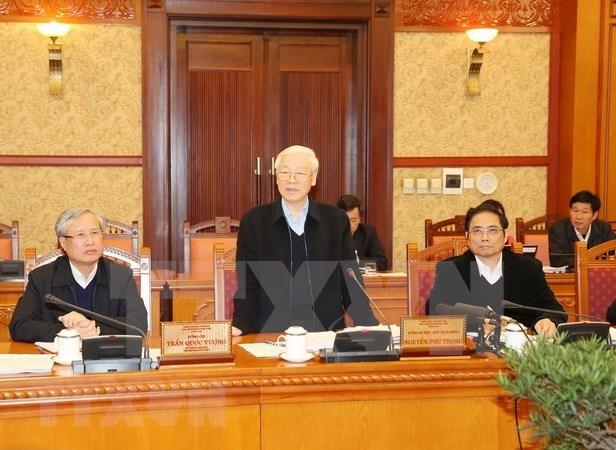 Maximo dirigente partidista de Vietnam exhorta a acelerar reformas de sistema politico hinh anh 1