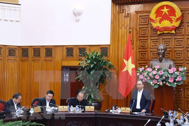 Premier preside reunion de Subcomision Socioeconomica del Partido Comunista de Vietnam hinh anh 1