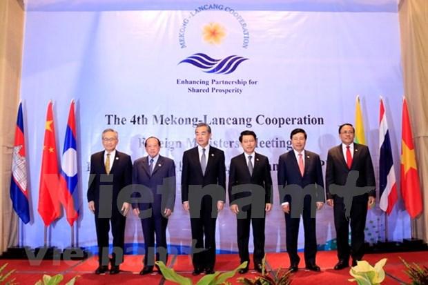 Cancilleres de Cooperacion Mekong- Lancang apoyan la economia mundial abierta hinh anh 1