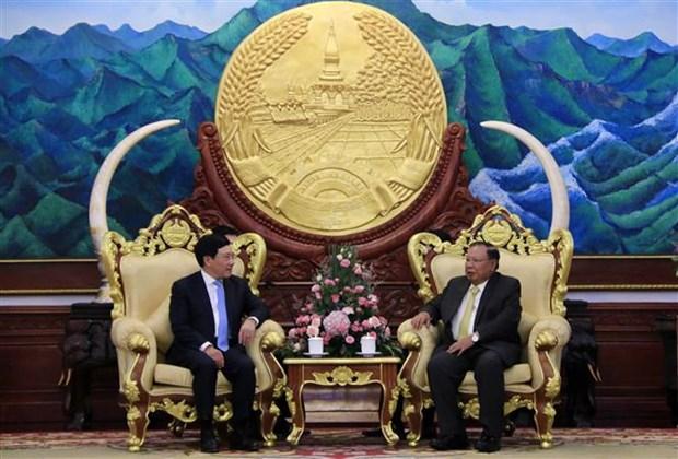 Vietnam y Laos buscan intensificar relaciones en todas las esferas hinh anh 1