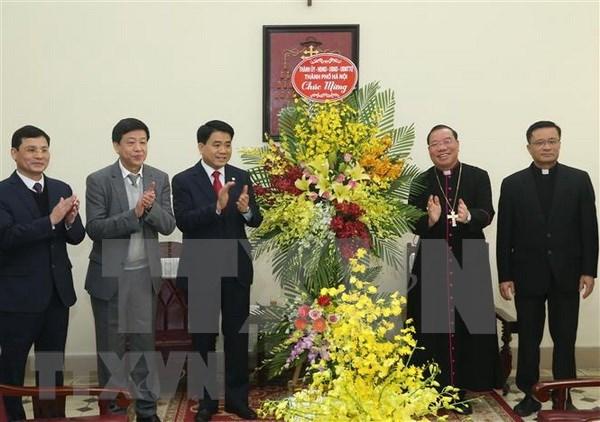 Arzobispo de Arquidiocesis de Hanoi apoya lazos entre comunidad religiosa y gobierno local hinh anh 1