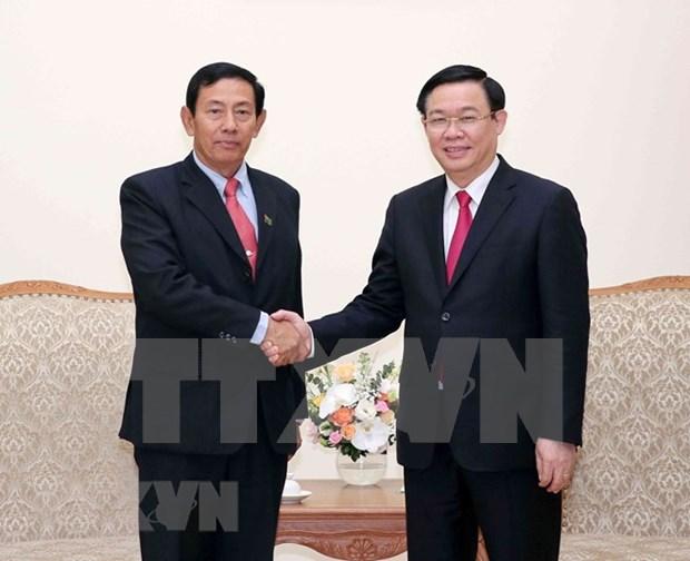 Vicepremier vietnamita recibe al presidente del Partido de Union, Solidaridad y Desarrollo de Myanmar hinh anh 1