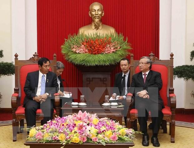 Partido de Union, Solidaridad y Desarrollo de Myanmar fomentara nexos entre su pais y Vietnam hinh anh 1