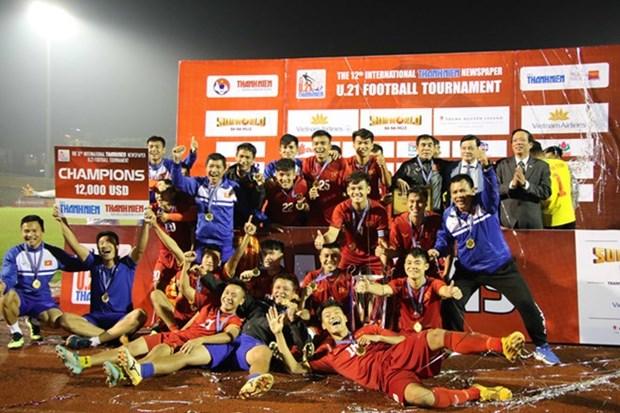 Vietnam gana campeonato internacional de futbol sub-21 al derrotar a Myanmar en los penaltis hinh anh 1