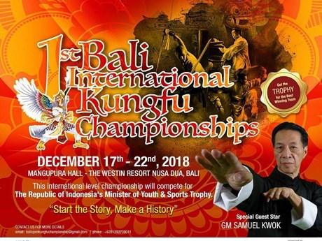 Celebran en Indonesia primera edicion de Campeonato Internacional de Kungfu hinh anh 1